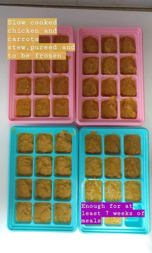 Chicken puree cubes